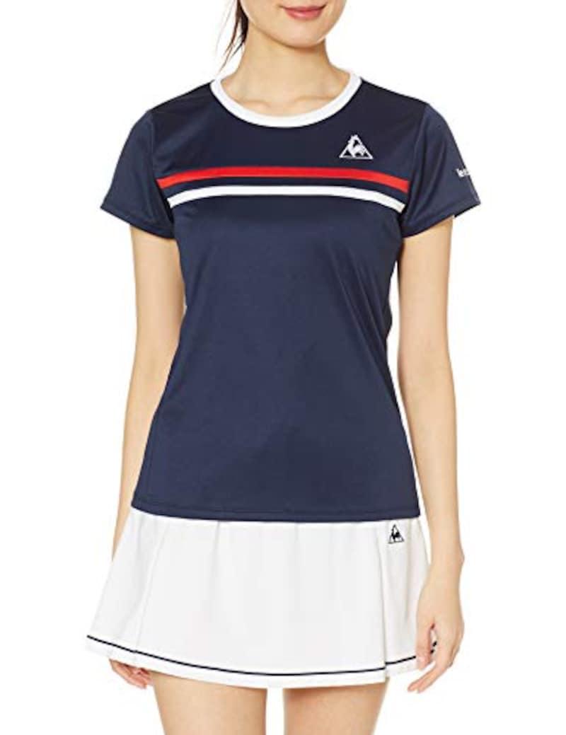 le coq sportif(ルコックスポルティフ),テニスウェア レディース 半袖シャツ,QTWPJA32ZZ