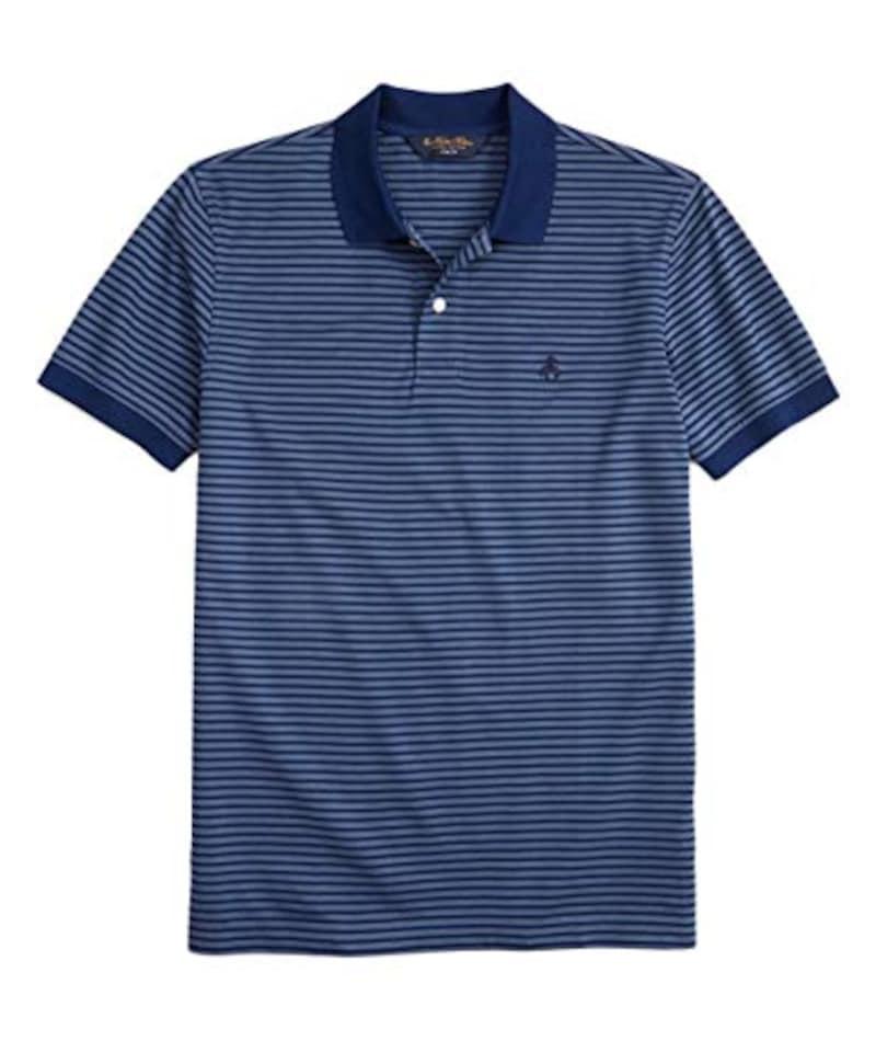 Brooks Brothers(ブルックスブラザーズ),GF スーピマコットンピケ フィーダーストライプ ポロシャツ Slim Fit,100161167