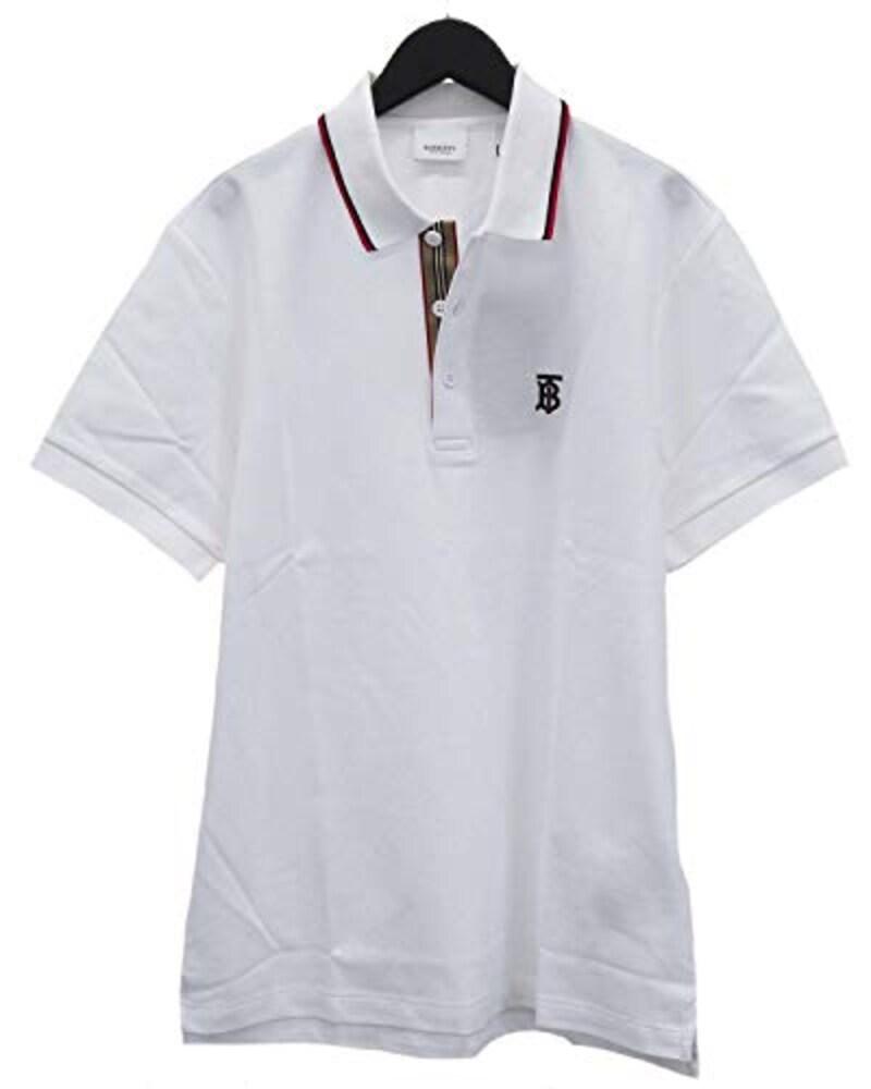 Burberry(バーバリー),アイコンストライプ プラケット コットンピケ ポロシャツ,80170071