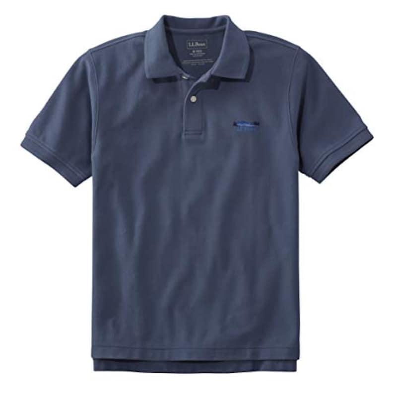 L.L.Bean(エルエルビーン),メンズ プレミアム・ダブル・エル・ポロシャツ 半袖 ポケット付き