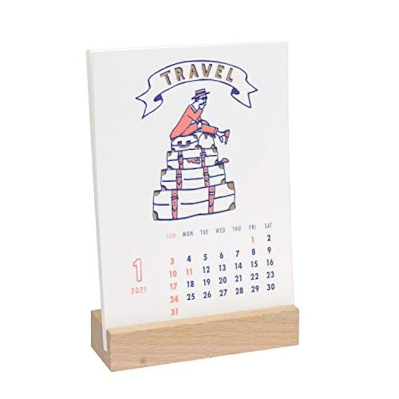 GreetingLife,カレンダー   チョークボーイ 卓上 木製スタンド付 ,C-1317-CB