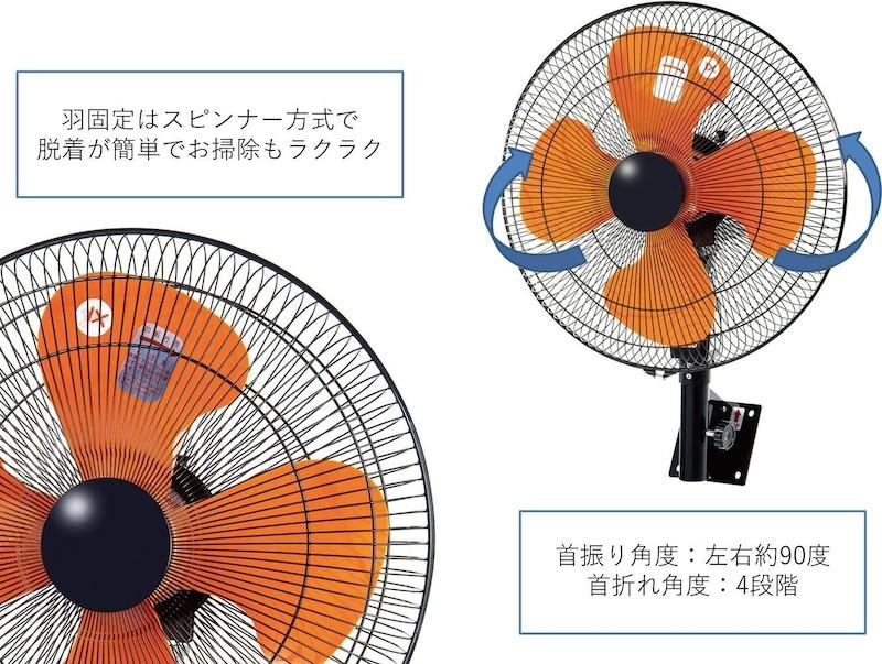 NAKATOMI(ナカトミ),スピンナー式壁掛け扇風機,QZW-45