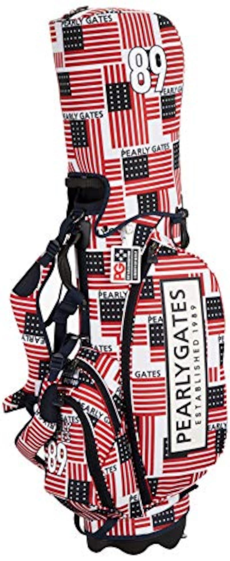 PEARLY GATES(パーリーゲイツ),ゴルフ用 キャディバッグ 星条旗総柄