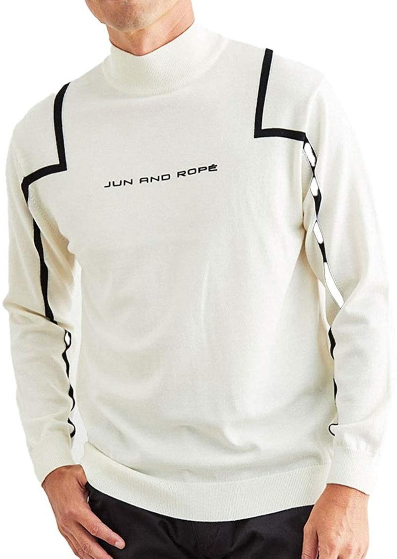 JUN & ROPE(ジュン アンド ロペ ),フロントロゴライン使い長袖プルオーバー,EJM60210
