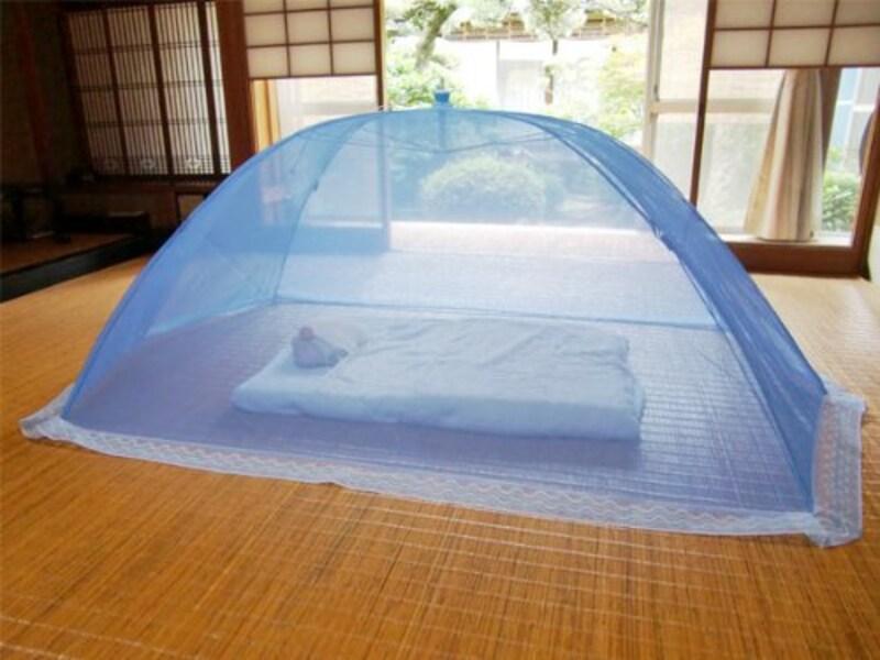ふとんのマルソウ,片麻 折りたたみ添い寝用ベビー蚊帳