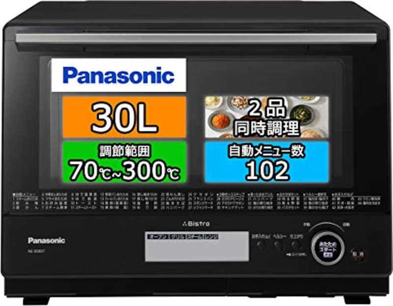 Panasonic(パナソニック),ビストロ スチームオーブンレンジ 30L ブラック,NE-BS807-K
