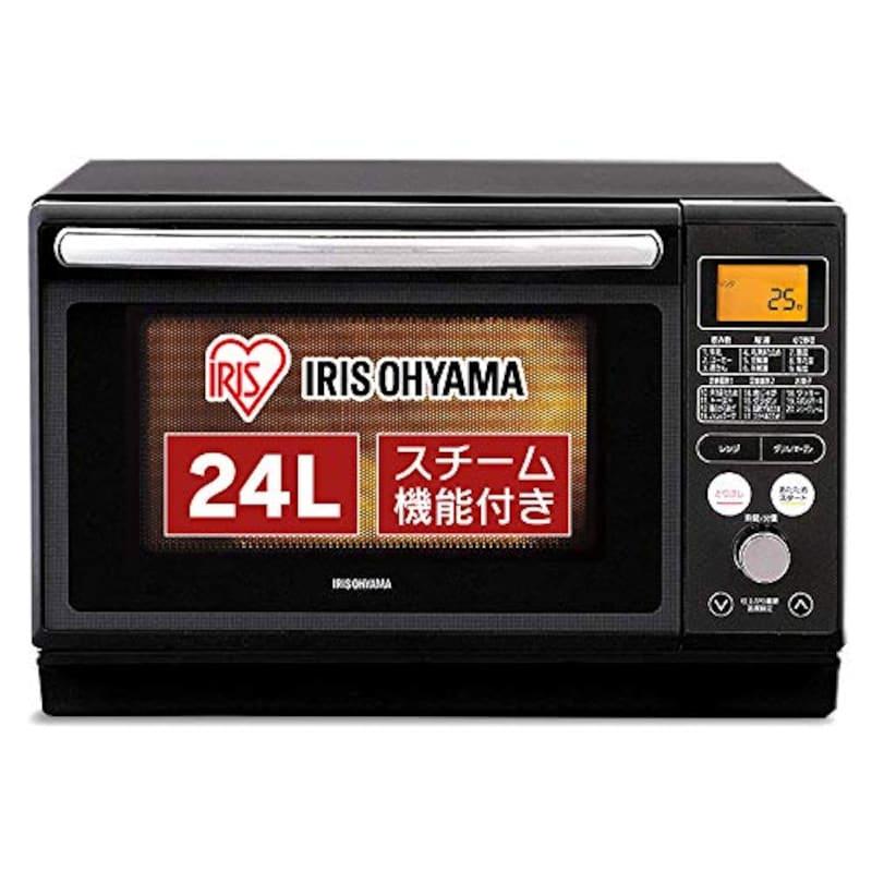 IRIS OHYAMA(アイリスオーヤマ),過熱水蒸気 スチームオーブンレンジ 24L ブラック ,MO-FS2403
