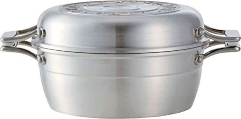 北陸アルミニウム,HAMON 鋳物鍋(しろがね)両手鍋,A-2033
