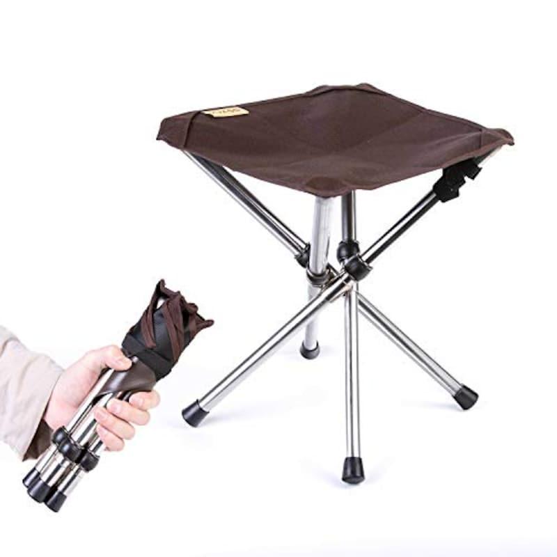KVASS ,アウトドアチェア 折りたたみ椅子 コンパクトイス キャンプ