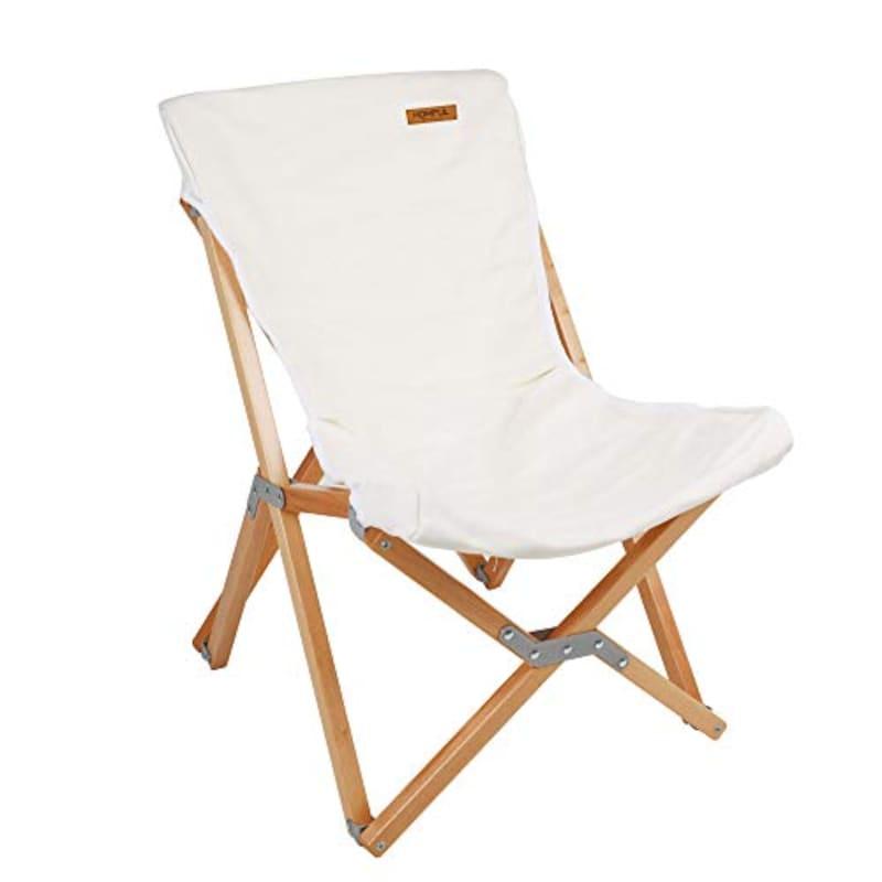 HOMFUL,皓風欅の木製胡蝶チェア ズック折りたたみチェア木制椅子