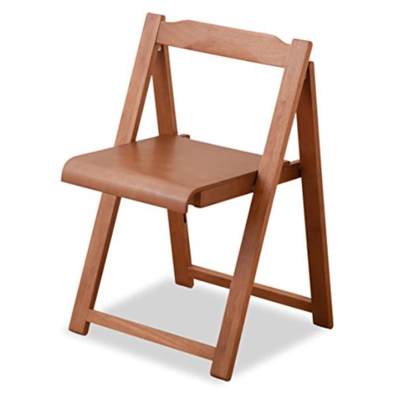 エムール,北欧風 【木製 フォールディングチェア/折りたたみ椅子】 おしゃれ 省スペース 〔ウォルナット〕