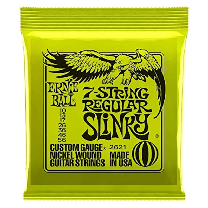 ERNIE BALL,ギター弦 7弦 レギュラー (10-56) 2621 7String Regular Slinky,2621
