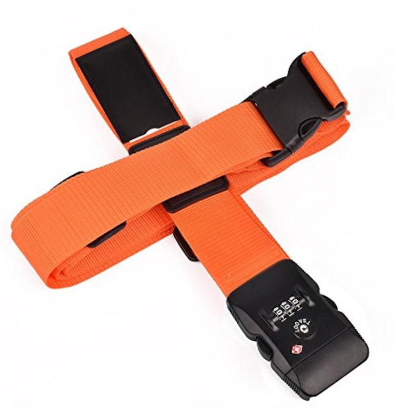 クロース(Kroeus),TSAロック付きスーツケースベルト  十字型