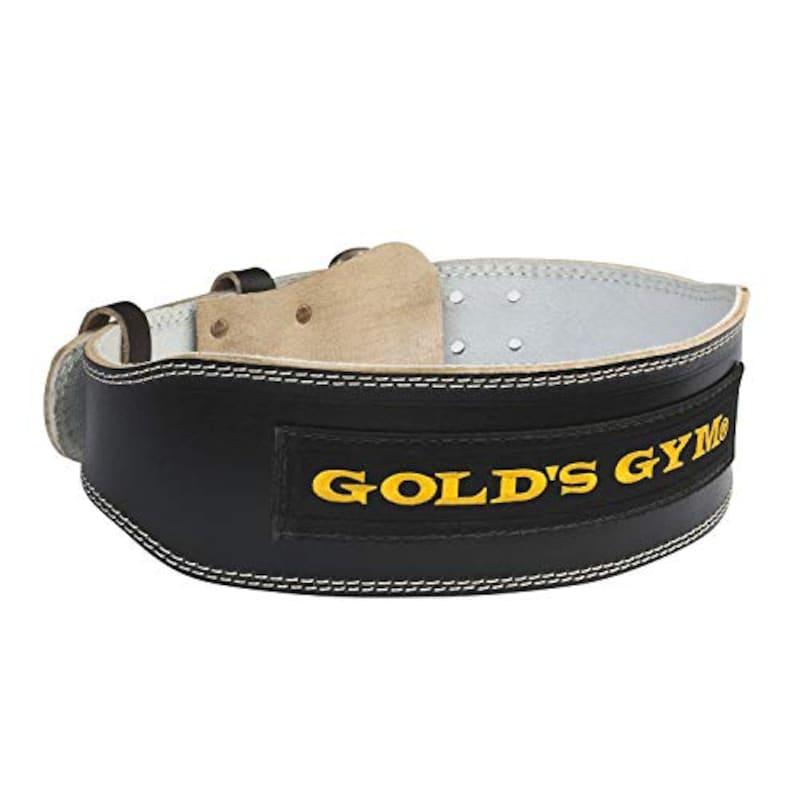 GOLD'S GYM(ゴールドジム),ブラックレザーベルト,G3367