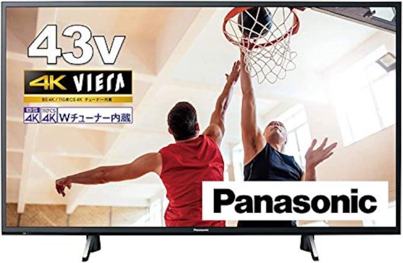 Panasonic(パナソニック), 4Kダブルチューナー内蔵 液晶 テレビ VIERA,TH-43GX755
