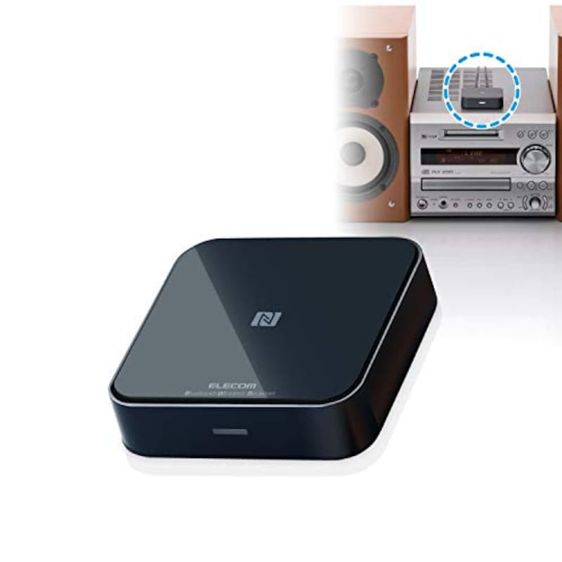 ELECOM(エレコム),Bluetoothオーディオレシーバー,LBT-AVWAR501XBK