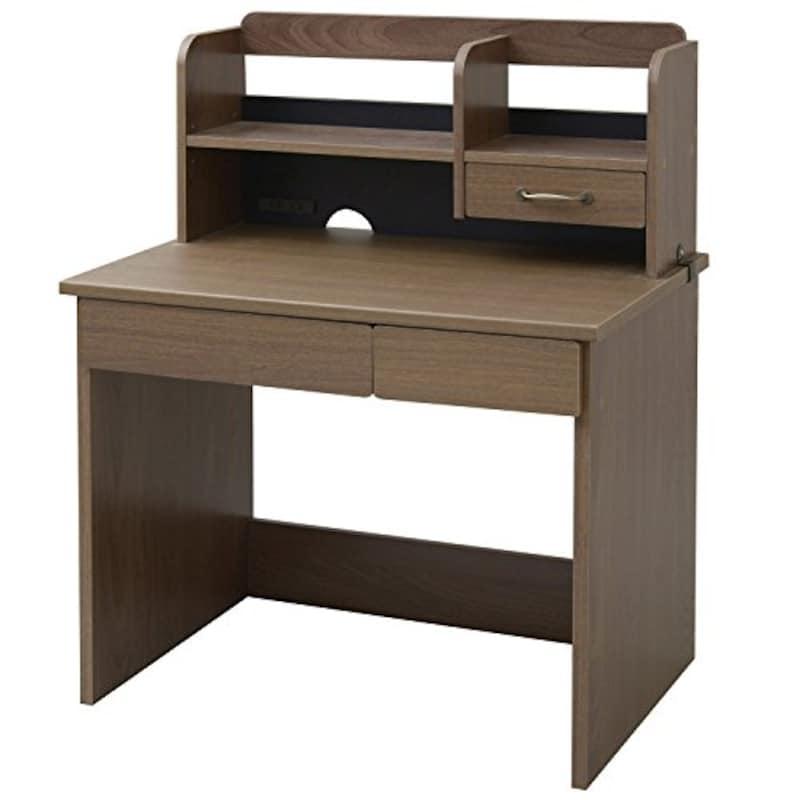 山善,ウォルナット木製デスク,FDS-9060