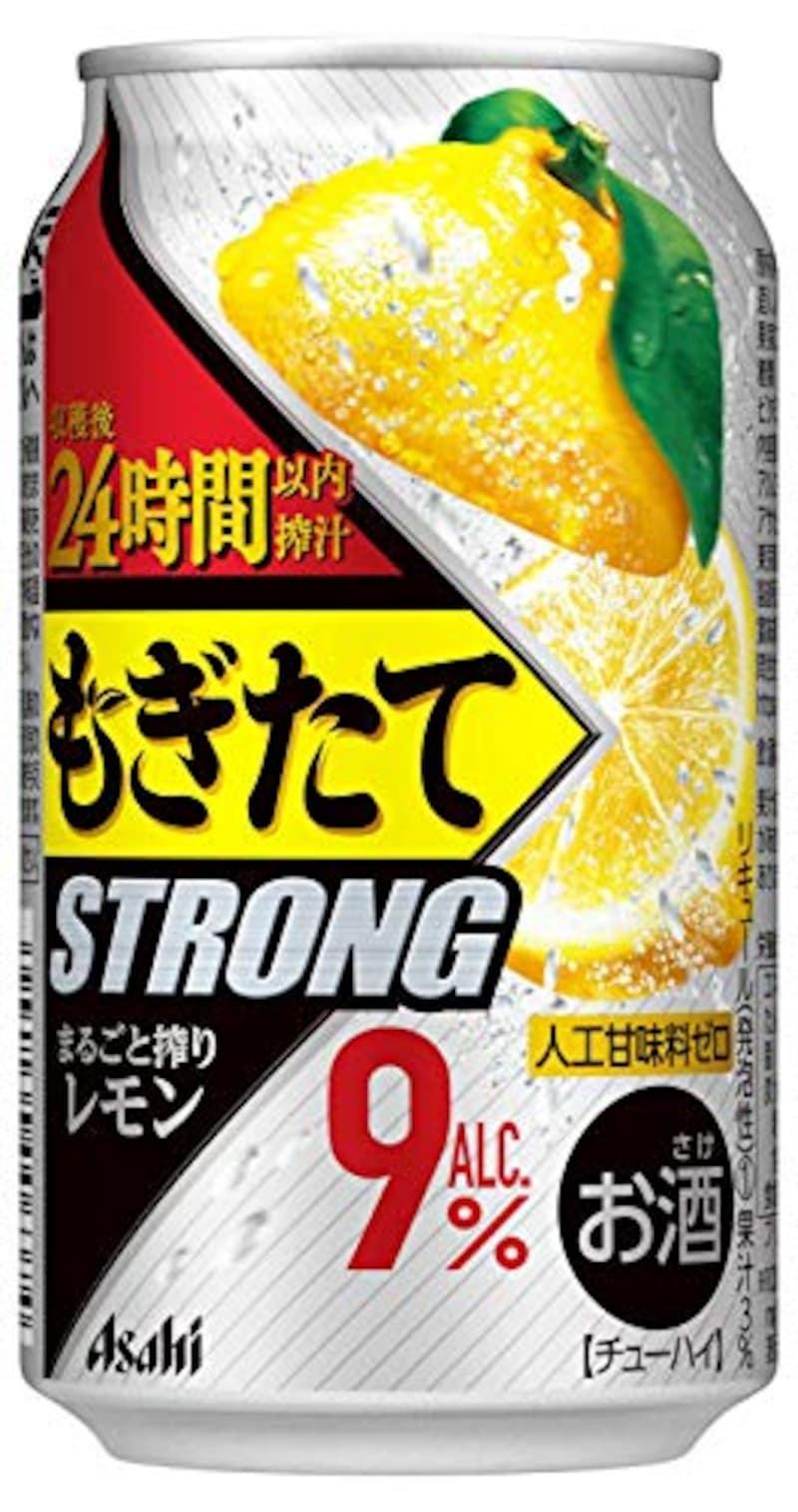 アサヒ飲料,もぎたてSTRONG まるごと搾りレモン