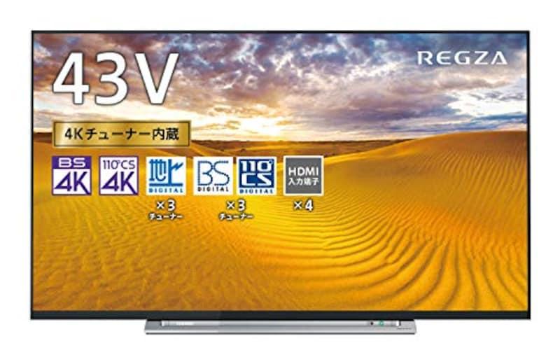 TOSHIBA(東芝),43V型地上・BS・110度CSデジタル4Kチューナー内蔵 LED液晶テレビ,43M520X