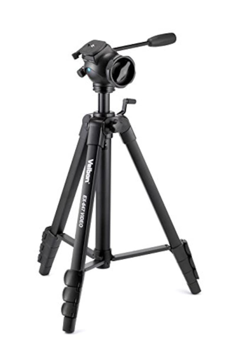 ベルボン,ビデオ三脚 雲台(FHD-63D)付き,EX-647
