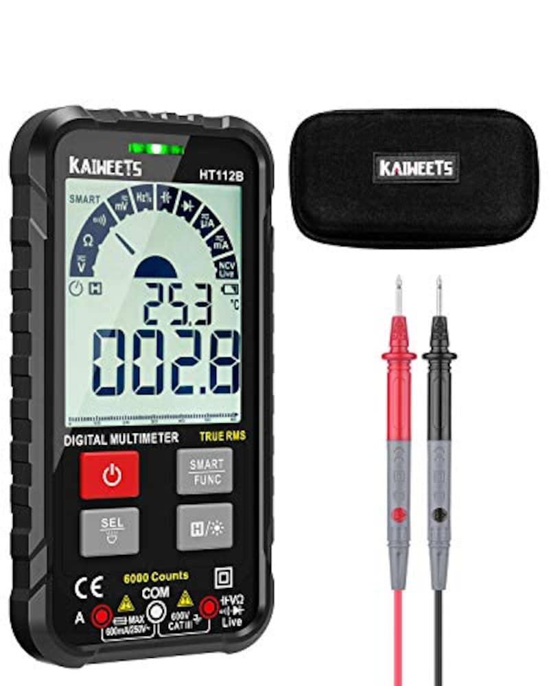 KAIWEETS,テスター 6000 カウント デジタルマルチメーター,HT112B