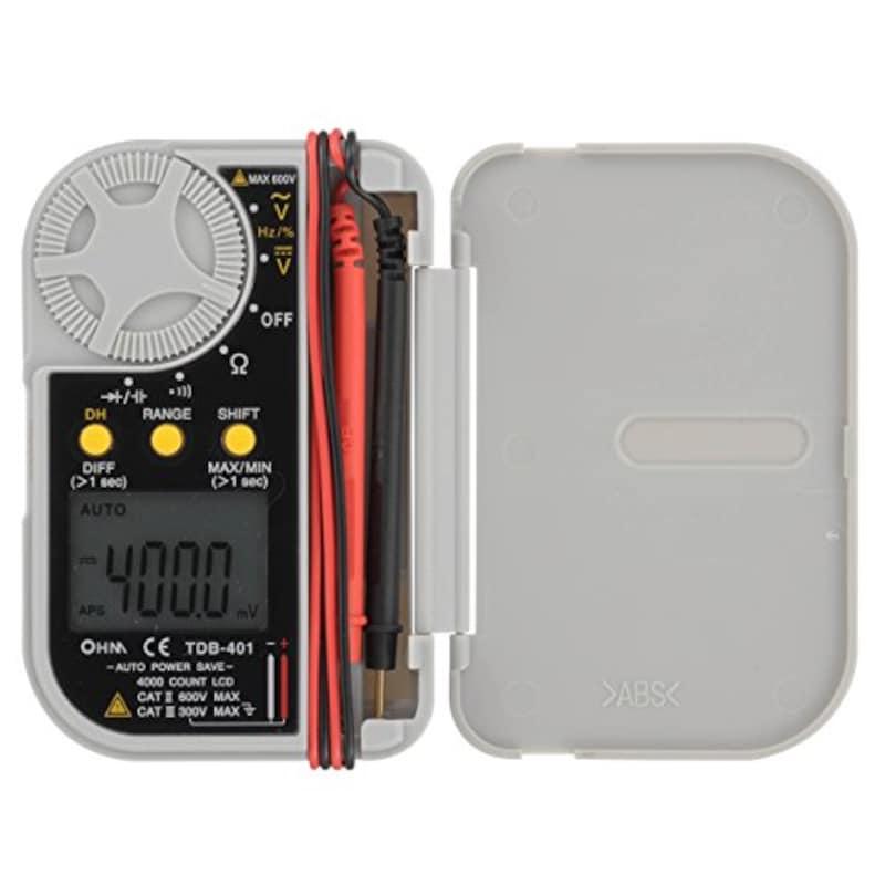 オーム電機(Ohm Electric),デジタルマルチテスター,TDB-401