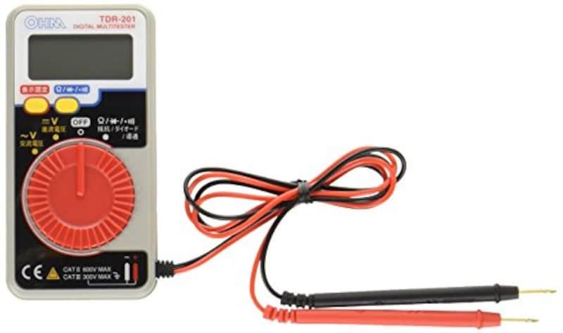 オーム電機(Ohm Electric),デジタルマルチテスター,TDR-201