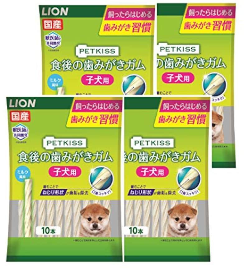 ライオン,ペットキッス 犬用おやつ 食後の歯みがきガム子犬用