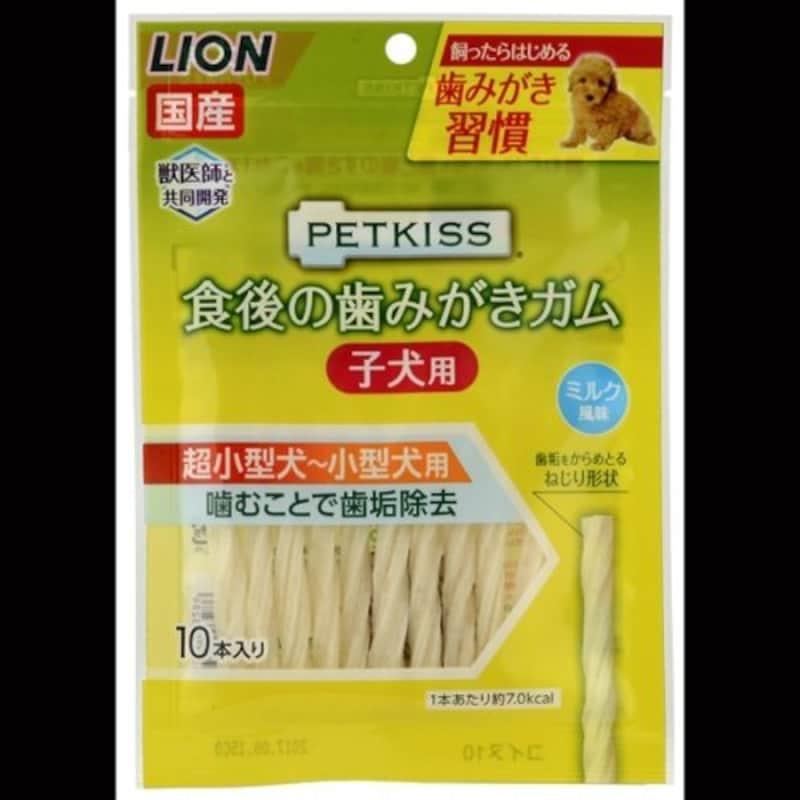 ライオン,PETKISS 食後の歯みがきガム 子犬用 超小型~小型犬用