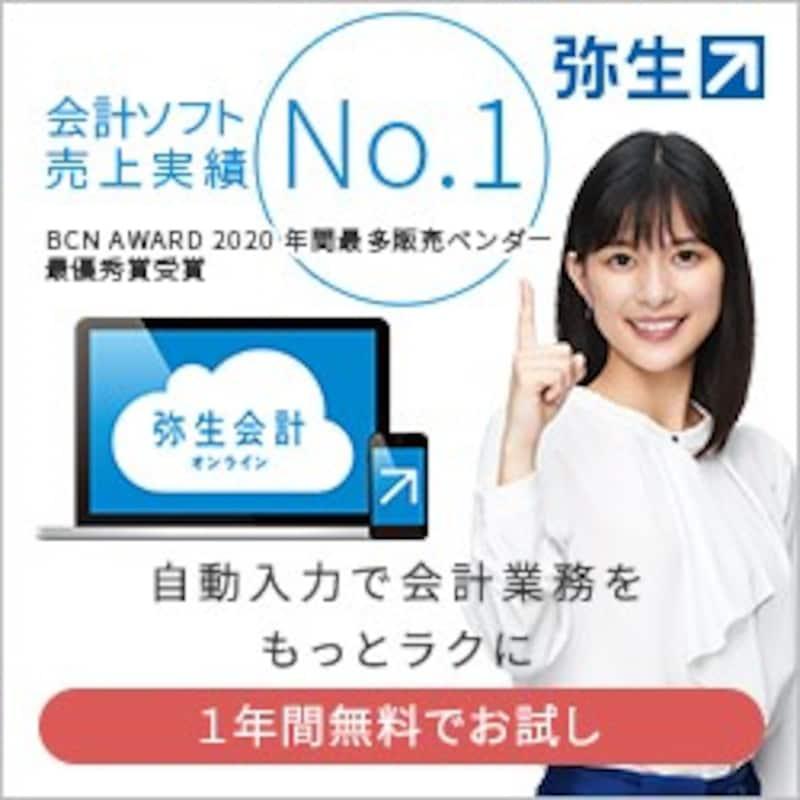 弥生株式会社,売上実績No.1!2人に1人が使う【弥生シリーズ】