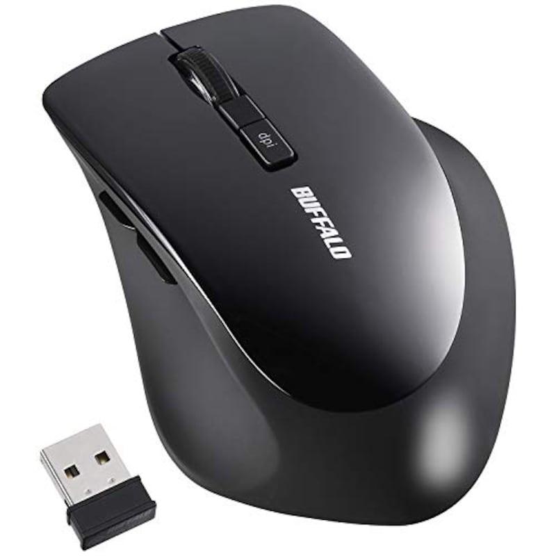 BUFFALO(バッファロー),マウス 無線 ワイヤレス 静音 5ボタン ,BSMBW325BK