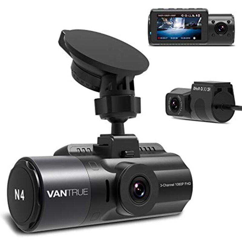 VANTRUE JAPAN,3カメラ ドライブレコーダー 1440P+1080P+1080P,N4