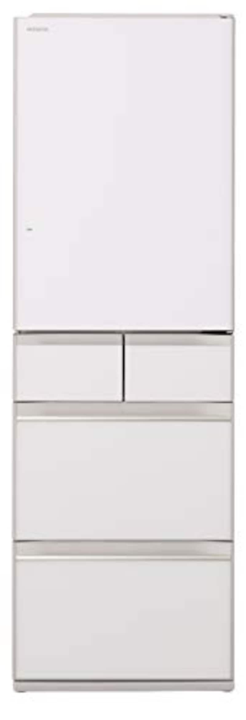 HITACHI(日立),5ドア冷蔵庫 強化処理ガラスドア クリスタルホワイト,R-HWS47K