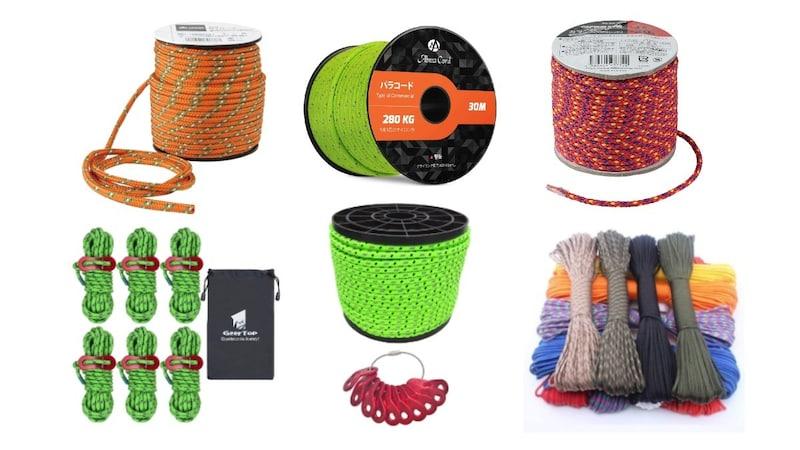 テントロープおすすめランキング13選|パラコードが人気!キャンプで役立つ紐や結び方を紹介