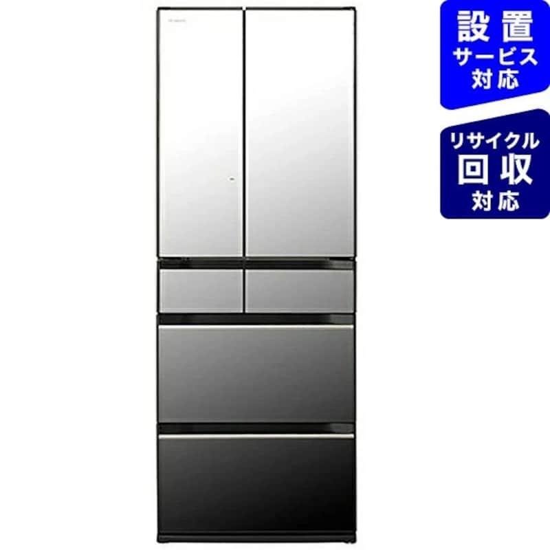 HITACHI(日立),6ドア冷蔵庫 クリスタルミラー,R-HX54R