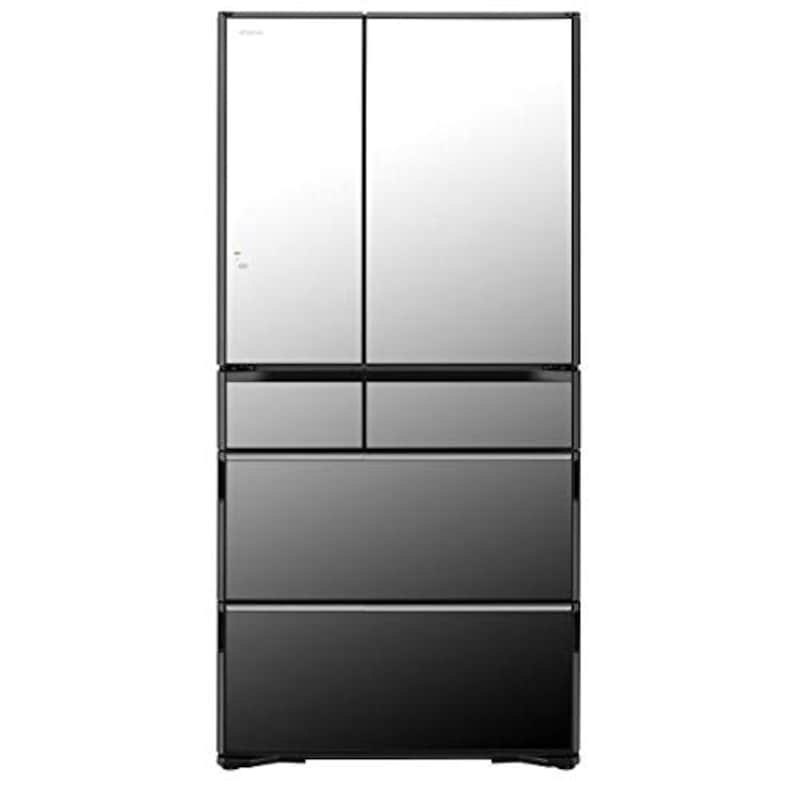 HITACHI(日立),6ドア冷蔵庫 強化処理ガラスドア クリスタルミラー,R-WXC74N