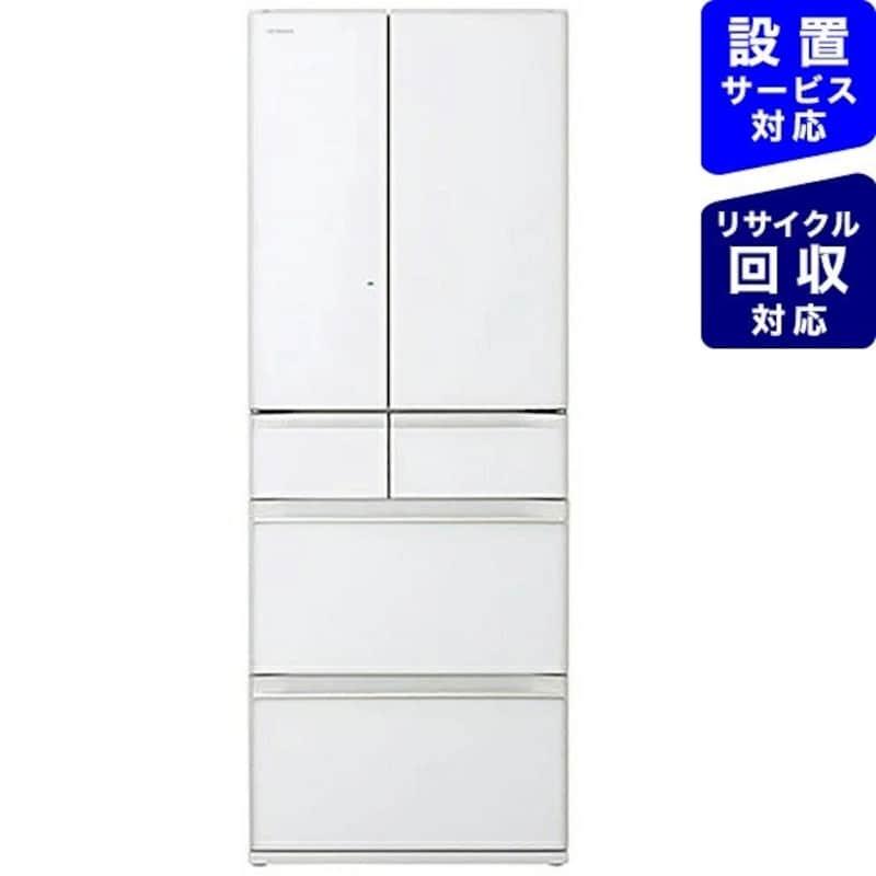 HITACHI(日立),6ドア冷蔵庫 クリスタルホワイト,R-HW60R