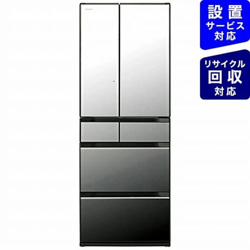 HITACHI(日立),6ドア冷蔵庫 クリスタルミラー,R-KX50N