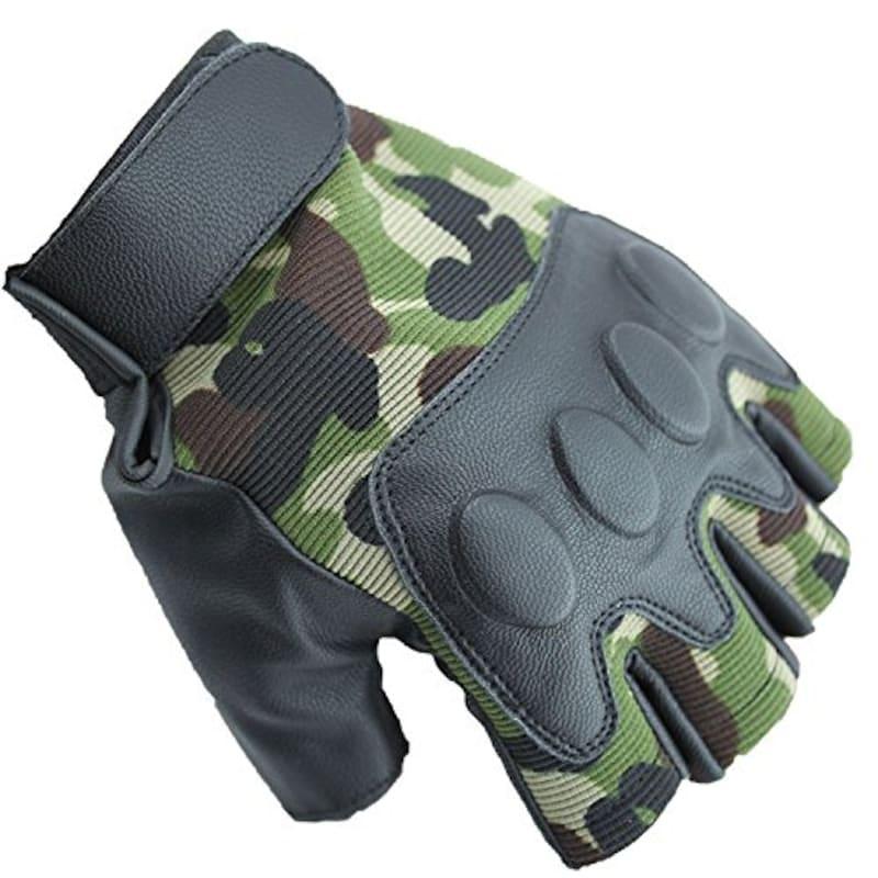 Fingerless Gloves,メンズ 迷彩フィンガーレスグローブ