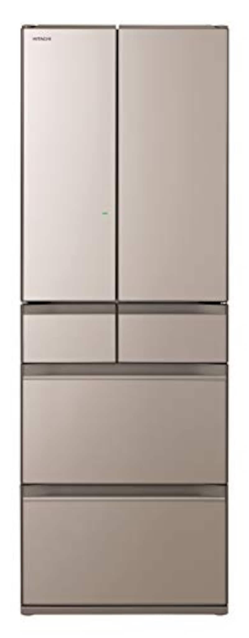 HITACHI(日立),6ドア冷蔵庫 強化処理ガラスドア クリスタルシャンパン,R-HW52N