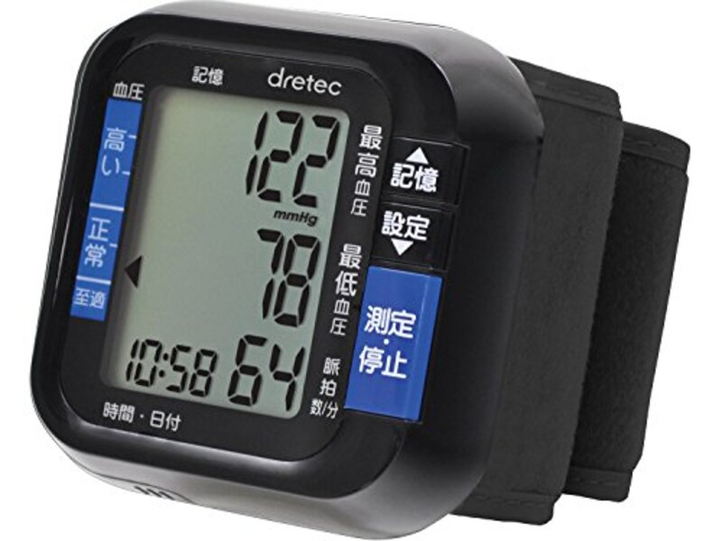 DRETEC ,手首式血圧計,BM-100BK