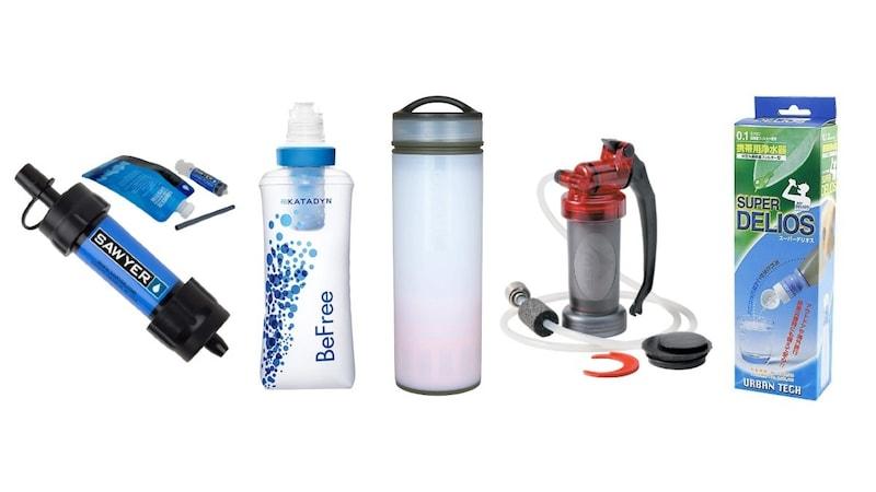 アウトドア用携帯浄水器おすすめ人気ランキング15選|登山やキャンプで!性能や価格を比較