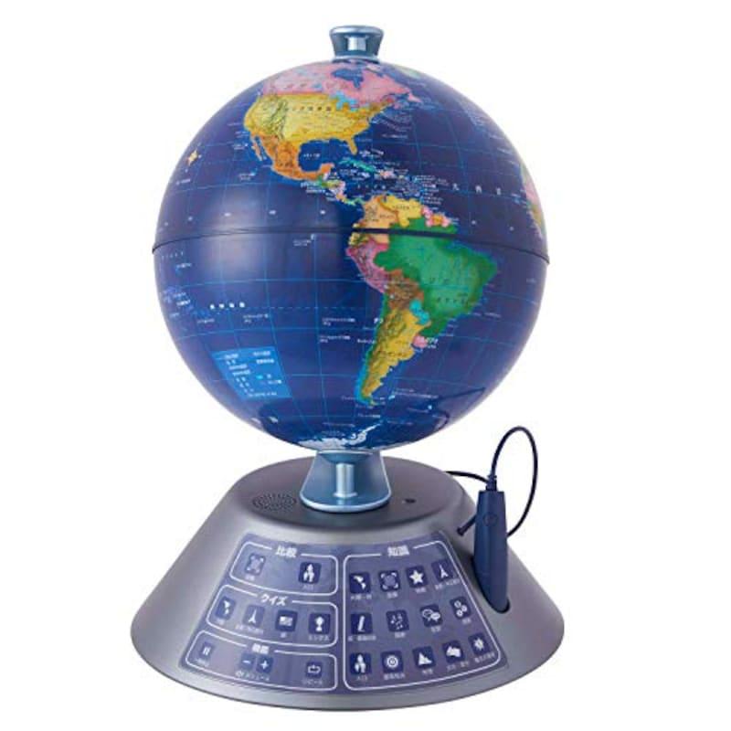 ドウシシャ,しゃべる地球儀 パーフェクトグローブ GEOPEDIA NEXT,ID-GN19E