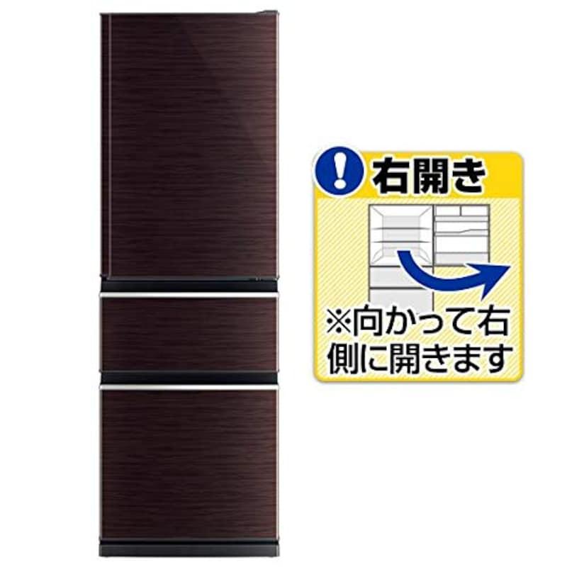 MITSUBISHI(三菱電機),CXシリーズ 3ドア冷蔵庫,MR-CX37F-BR