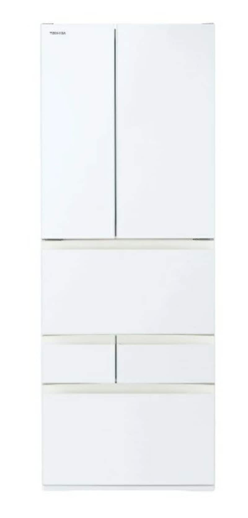 TOSHIBA(東芝),6ドア冷蔵庫 VEGETA(ベジータ),GR-T550FH(EW)