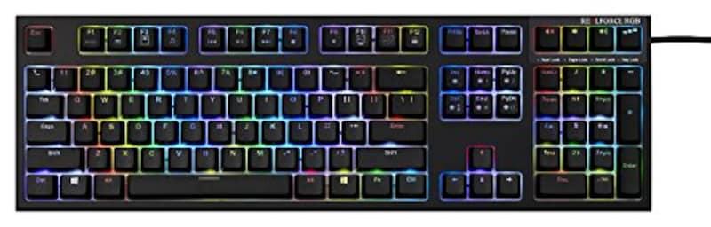 東プレ,REALFORCE RGB US 108キーUSB英語配列,AEAX01
