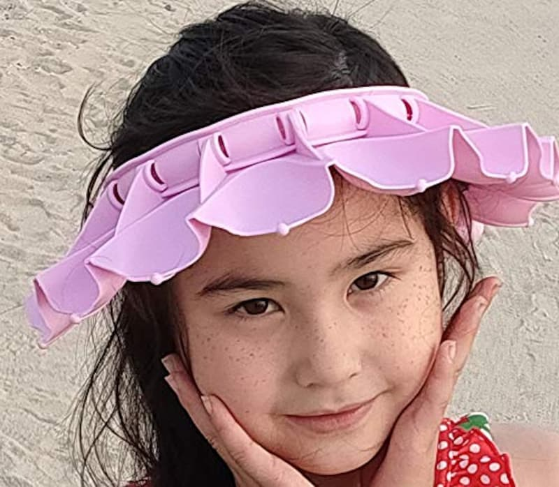 HIDERME,花形シャンプーハット 子供~大人