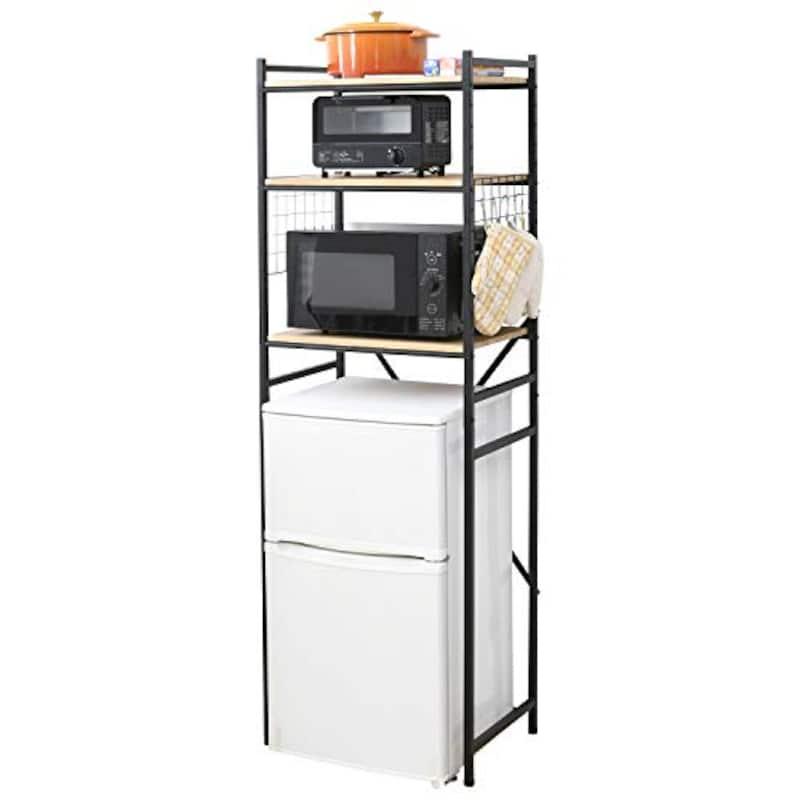 YAMAZEN(山善),レンジ台 (冷蔵庫ラック)小型冷蔵庫対応,RUR-18
