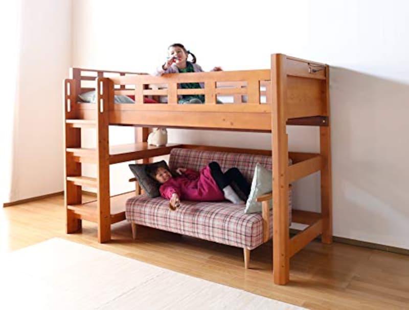 kagu-world,木製ロフトベッド