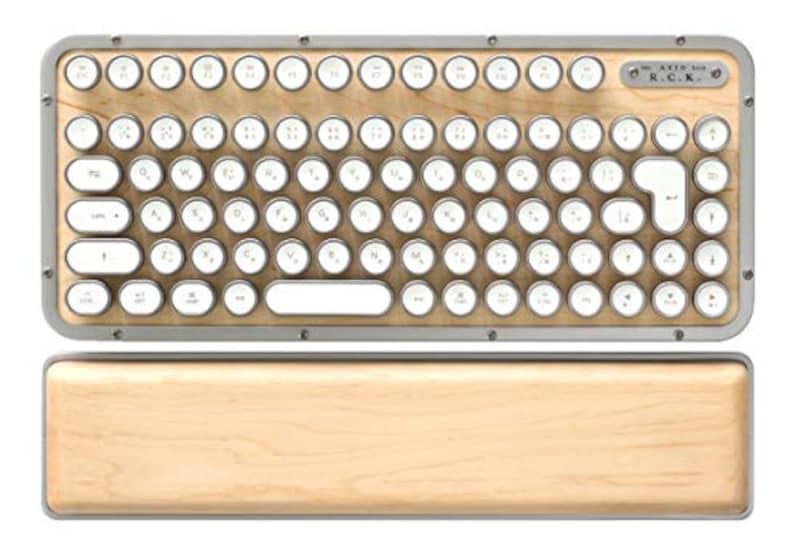 AZIO(エージオ),レトロクラシック・ワイヤレスキーボード メープル,MK-RCK-W-02-JP